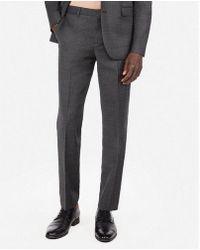 Express - Slim Plaid Windowpane Wool-blend Stretch Suit Pant - Lyst