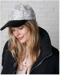 Express   (minus The) Leather Brim Floral Baseball Hat   Lyst
