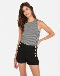 b6a9135b40a Lyst - Forever 21 Buttoned Sailor Shorts in Black
