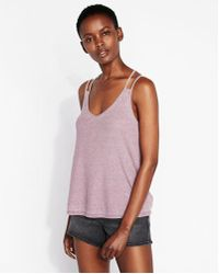 Express - One Eleven Ribbed Crisscross Strappy Back Cami - Lyst