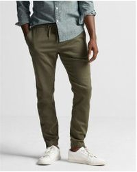Express | Stretch Twill Jogger Pant | Lyst
