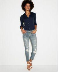 Express - Original Long Sleeve Essential Shirt - Lyst