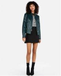 Express - Removable Zip Hem Faux Leather Jacket - Lyst