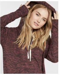 Express - Marled Hooded Sweatshirt Dress - Lyst