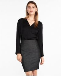 Express - Seamed Pencil Skirt - Lyst