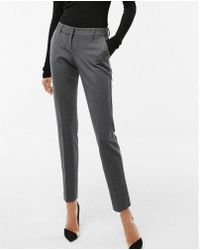 Express - Low Rise Heathered Columnist Ankle Pant - Lyst