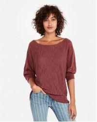 Express - Off The Shoulder Dolman Pullover Sweatshirt - Lyst