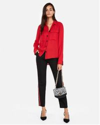 Express - Solid Top Stitched Shirt - Lyst
