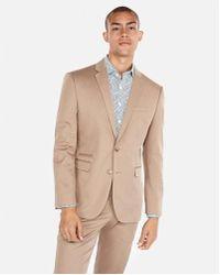Express - Slim Cotton Sateen Stretch Suit Jacket - Lyst