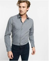 Express | Fitted Heathered 1mx Shirt | Lyst