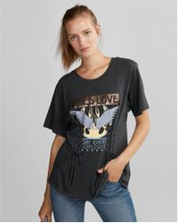 Express - Wild Love Double Corset Graphic Tee - Lyst