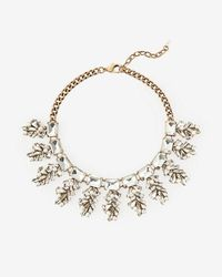 Express | Mixed Stone Statement Necklace | Lyst