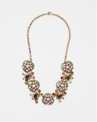 Express - Layered Mixed Stone Statement Necklace - Lyst