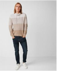 Express - Ombre Marled Funnel Neck Sweater - Lyst