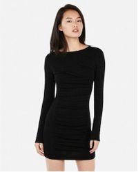 7318ef3f Lyst - Express Striped Square Neck T-shirt Sheath Dress in Black