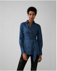 Express - Wrap Tunic Shirt - Lyst