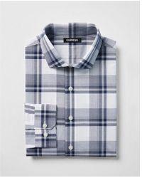 Express - Slim Plaid Dress Shirt - Lyst
