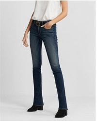 Express - Mid Rise Stretch Skyscraper Jeans, Women's Size:00 Short - Lyst