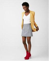 Express - High Waisted Windowpane A-line Skirt - Lyst