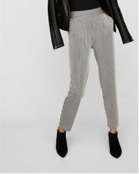 Express - D Pleated Pull-on Ankle Pant - Lyst