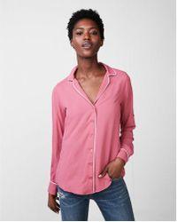Express - Ped Pajama Collar Shirt - Lyst