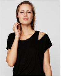 Express - One Eleven Sliced Dolman Tee - Lyst