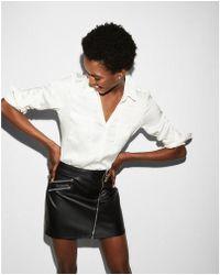 Express | Slim Fit Convertible Sleeve Portofino Shirt | Lyst
