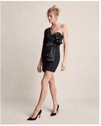 Express - One Shoulder Wrap Sheath Dress - Lyst