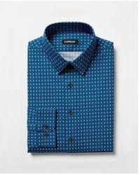 Express - Ig & Tall Slim Geometric Print Dress Shirt - Lyst
