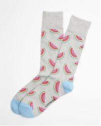 Express - Watermelon Print Dress Socks - Lyst