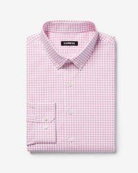 Express - Slim Check Button-down Cotton Dress Shirt - Lyst