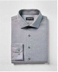 Express - Slim Fit Twill 1mx Shirt - Lyst