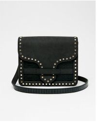 Express - Studded Trim Crossbody Bag - Lyst