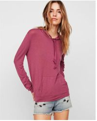 Express - One Eleven Drawstring Pullover Hooded Sweatshirt - Lyst