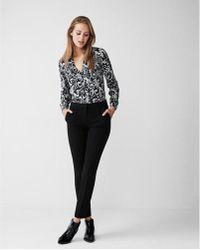 Express - Original Fit Paisley Portofino Shirt - Lyst