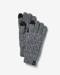 Express - Touchscreen Compatible Marled Gloves - Lyst