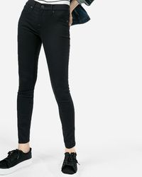 Express - Mid Rise Black Jeggings, - Lyst