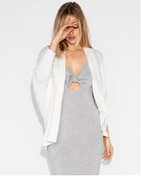 Express - One Eleven Plush Hooded Cover-up - Lyst