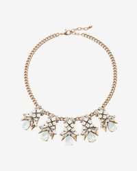 Express | Xed Stone Pendant Statement Necklace | Lyst