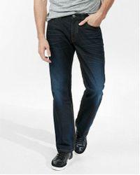 Express - Loose Boot Dark Wash Super Thick Stitch 100% Cotton Jeans, Men's Size:w28 L32 - Lyst