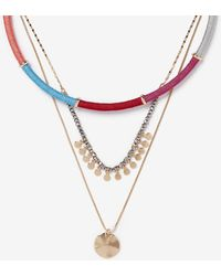 Express - Wrapped Three Layer Necklace - Lyst