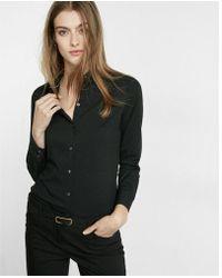 Express - Slim Fit Long Sleeve Essential Shirt - Lyst