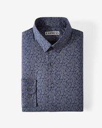 Express - Ig And Tall Slim Fit Floral Print Dress Shirt - Lyst
