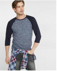 Express - Three-quarter Sleeve Baseball T-shirt - Lyst