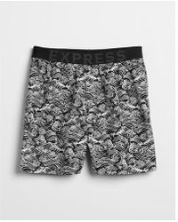 Express - Wave Print Exposed Waistband Woven Boxers - Lyst