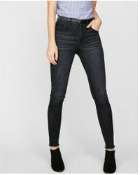 Express - High Waisted Denim Perfect Stretch+ Leggings - Lyst