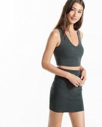 Express High Waisted Knit Pencil Skirt