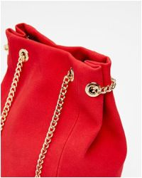 Express - Chain Handle Bucket Bag - Lyst