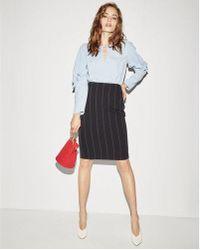 Express - High Waisted Pinstripe Pencil Skirt - Lyst