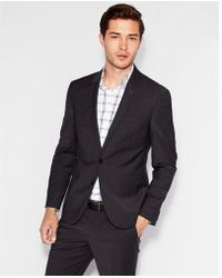 Express - Extra Slim Navy Performance Stretch Wool-blend Suit Jacket - Lyst